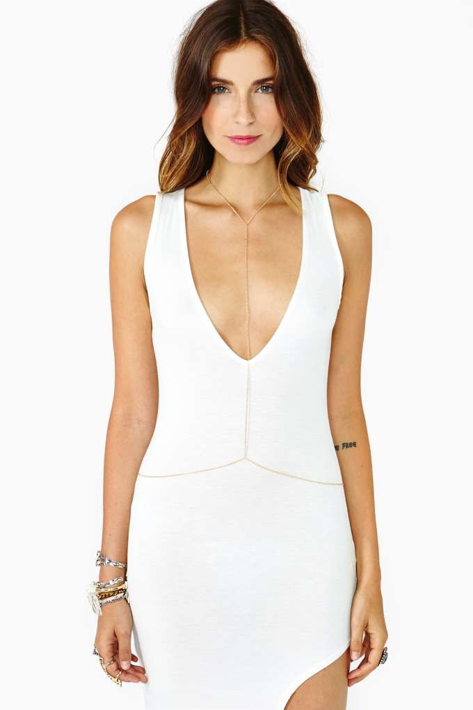 Nasty Gal Glimmer Body Chain ($28)