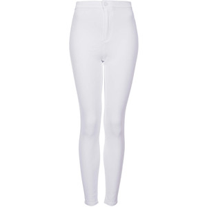 Topshop Moto Joni High Rise Jeans in white