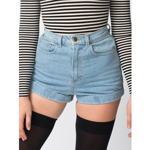 American Apparel Medium Wash High Waisted Shorts The LifeStyle Reporter