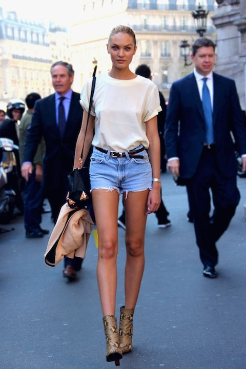 candice-swanepoel-denim-shorts-white-top-heels-tlr