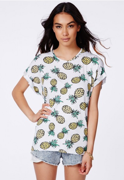 KREKLA PINEAPPLE BOYFRIEND T-SHIRT//MISSGUIDED.COM $17.98