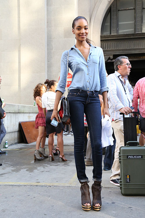 Jourdan Dunn Denim Chambray Top Jeans The Lifestyle Reporter