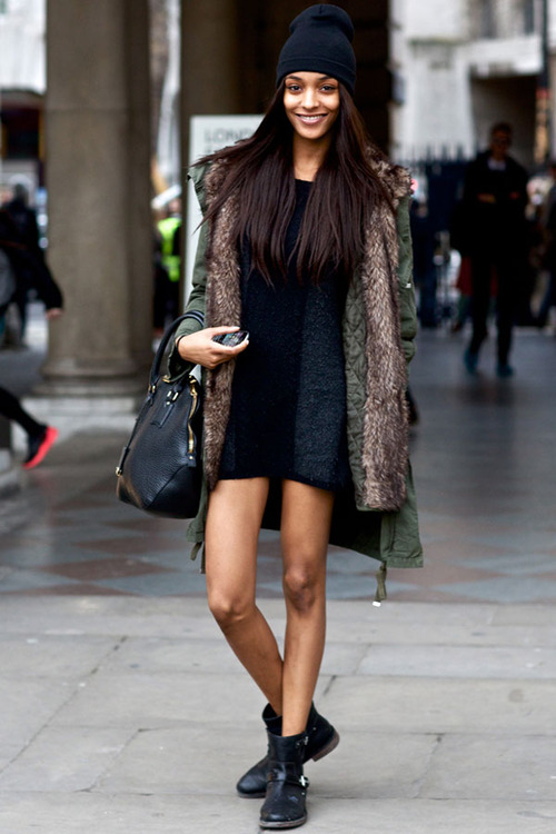 Jourdan Dunn Dress With Boots Summer Fall Look The Lifestyle Reporter'