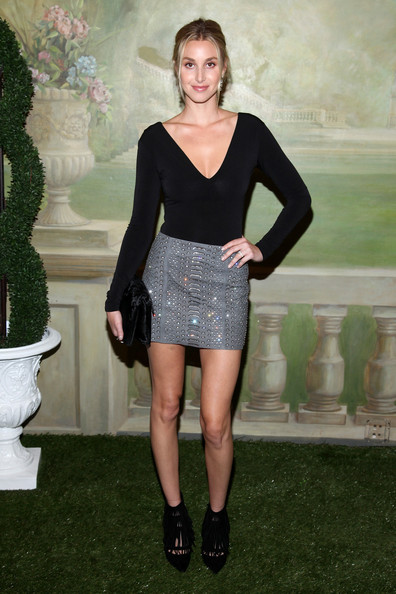 Whitney Port Alice and Olivia Black and Silver Skirt The Lifestyle Reporter