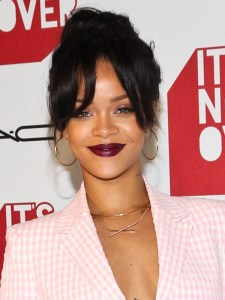 Close Up of Rihanna Bangs Mac Event