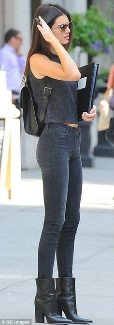 kendall jenner all black everything
