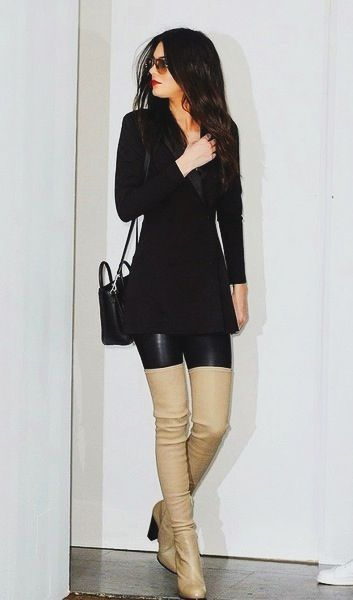 kendall jenner thigh highs all black the lifestyle reporter