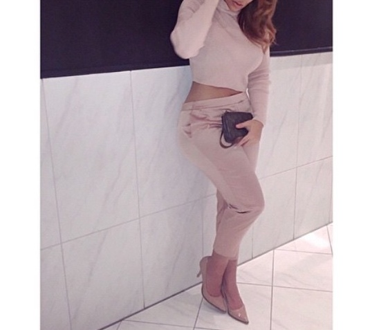 Blush Colored Turtleneck and Capris The Lifestyle Reporter