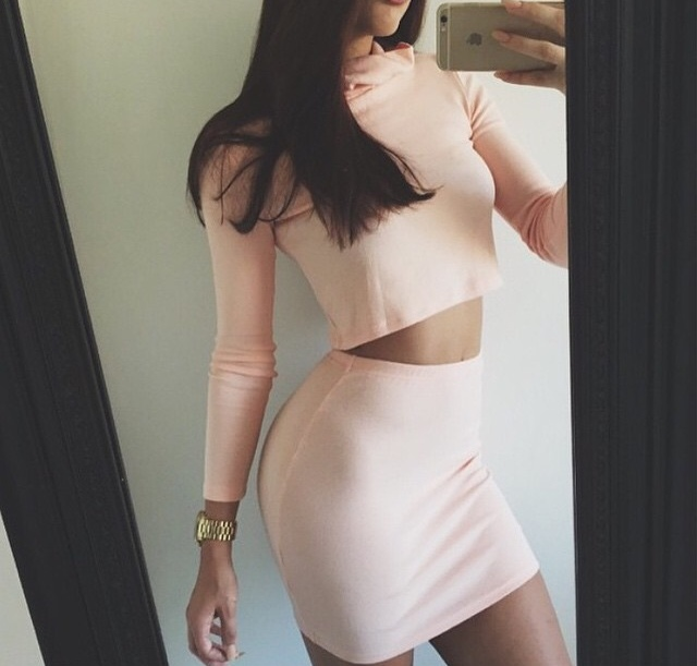 Tumblr Blush Colored Skirt Turtleneck Monochrome The Lifestyle Reporter