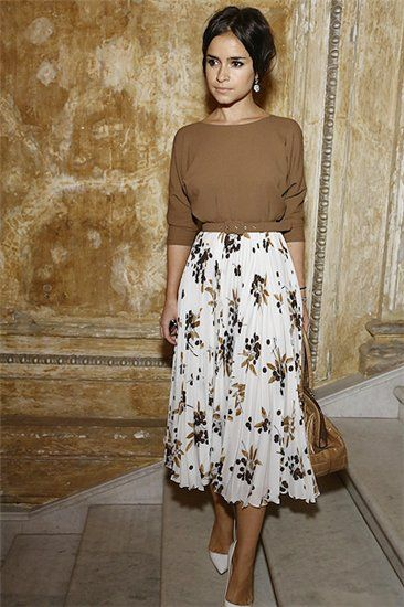 Mirolavia Duma Floral Skirt Tan Top