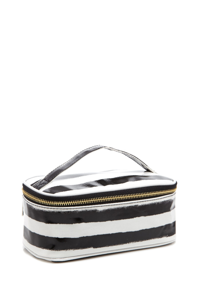 Forever 21 Striped Makeup Bag