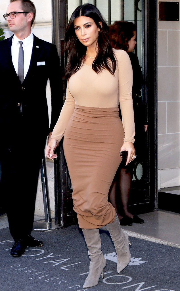 Kim Kardashian jersey bodycon skirt midi fitted