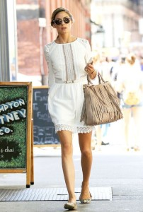 Olivia Palermo Fringe Bag Purse Handbag