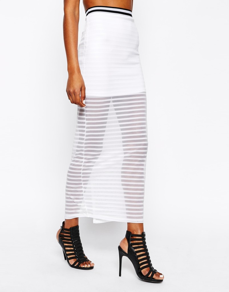 River Island Striped Long Skirt