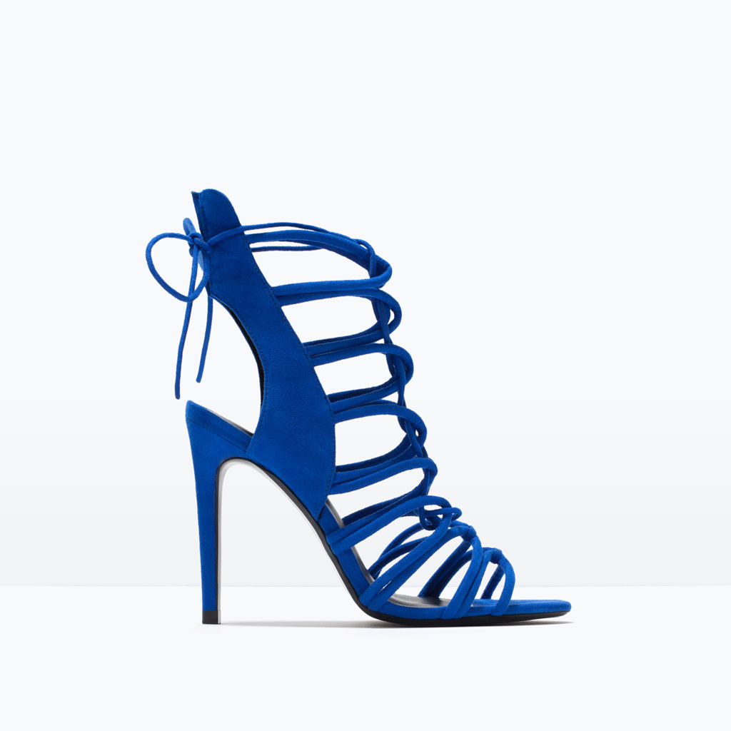 Zara High Heel Strappy Slingback Sandals