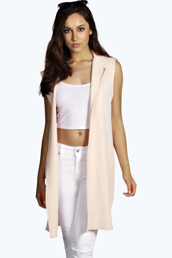 Lara Sleeveless Duster Coat, Boohoo.com.
