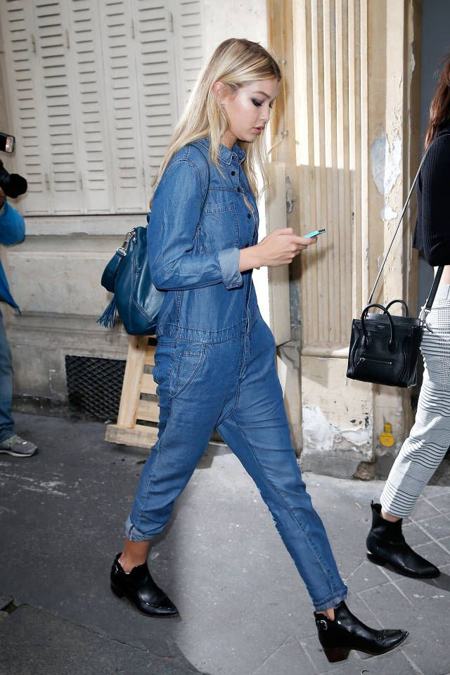 Gigi Hadid H&M Denim Jumpsuit