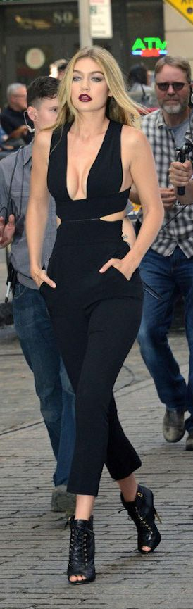 Gigi Hadid Stella McCartney Black Cutout Jumpsuit