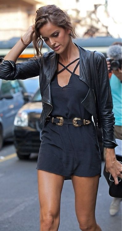 Izabel Goulart Western Double Buckle Belt Model Style