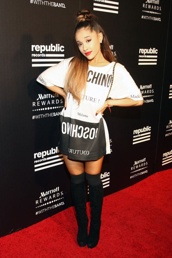 ariana-grande-oversize-shirt-with-thigh-high-boots