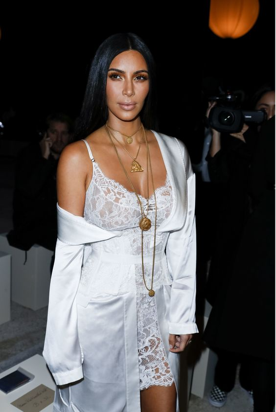 kim-kardashian-white-lingerie-dress-and-jacket