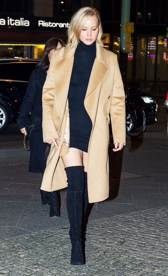 jennifer-lawrence-thigh-high-boots-and-camel-coat